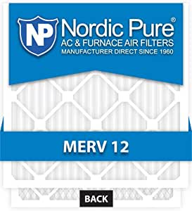 16x20x1-MERV 12 A/C Furnace Air Filters by Nordic Pure (Box of 6)