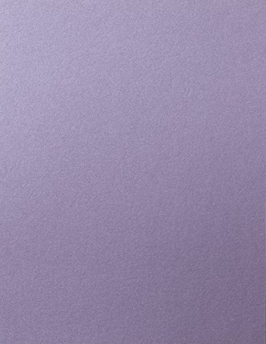 Lavender Shimmery Metallic Cardstock, 8 1/2 x 11 (50 Sheets) from Paper and More