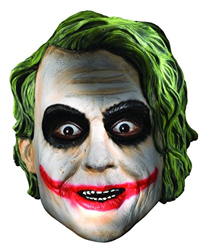 Joker Girl Halloween Costume (Rubies Batman The Dark Knight Child's The Joker Full Mask)