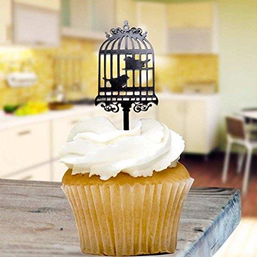 Jaula de pájaros adornos de cupcake x8 Horneado Escoge Decoración ...