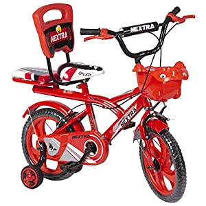 Speedbird 14-T Robust Double Seat Kids Bicycle for Boys & Girls – Age Group 3-6 Years (Red)
