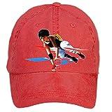 Nusajj Mirror's Edge Catalyst Unstructured 100% Cotton Sports Caps Design for Men Red One Size