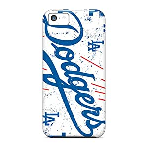 Shock-Absorbing Hard Phone Covers For Iphone 5c With Customized Colorful Los Angeles Dodgers Pictures SherriFakhry