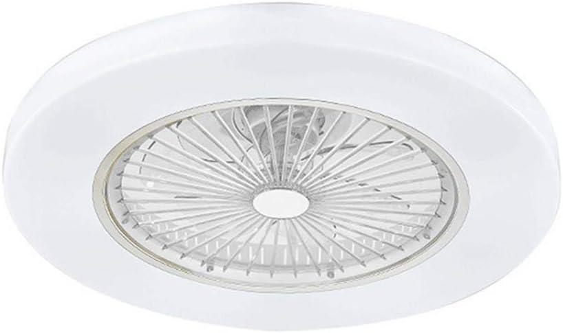 Ventilador De Techo Con Iluminación Ventilador De Techo LED Ventilador De Luz Velocidad Del Viento Ajustable Control Remoto Ajustable, 72W LED Luz De Techo,Blanco