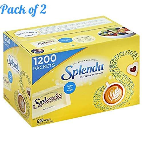 SPLENDA No Calorie Sweetener, Single-Serve Packets (1,200 Count) (Case of 2) by Splenda