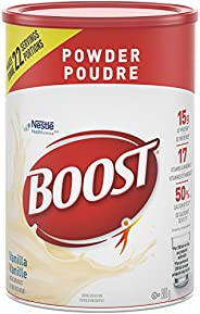 BOOST Powder- Vanilla Instant Breakfast Drink Mix, 880g canister