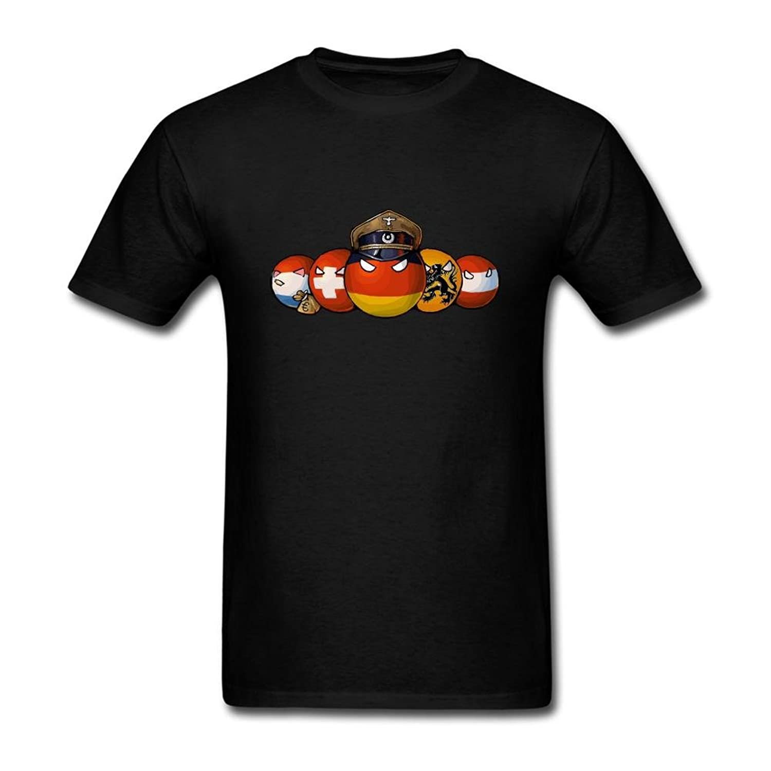 Design t shirt europe - Sljd Men S Art Countryballs Comics Europe Design T Shirt