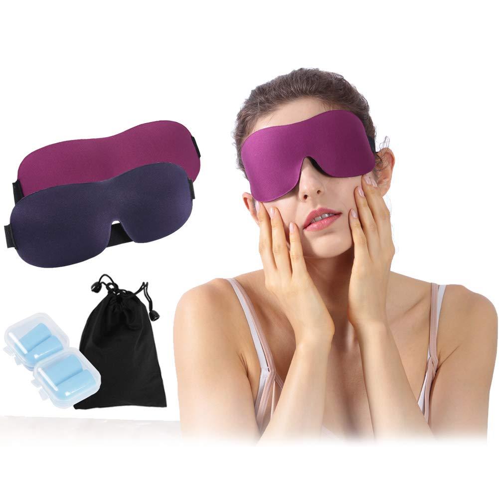 Men Women 3D Blackout Comfort Ultra Lightweight Blindfold Eye Cover for Travel Shift Work Naps Atrest Sleeping Eye Mask