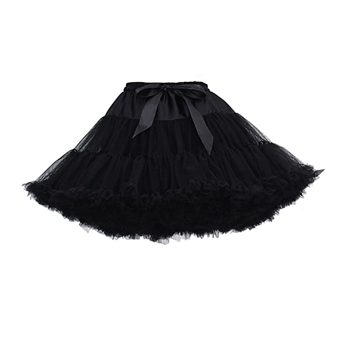 28dde490dd5b Image Unavailable. Image not available for. Color: AMLLY Women's Vintage  1950s Three Layers Tulle Tutu Skirt Petticoat Crinoline Underskirt ...