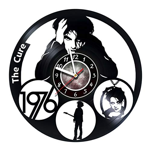 The Cure Wall clock rock band made from real vinyl record, The Cure wall poster, The Cure decal, best gift for The Cure fans - UNIQUE GIFT idea for Him -
