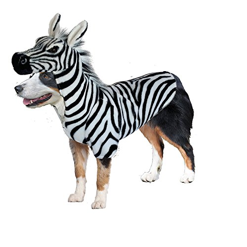 Realistic Animal Dog Halloween Costume (Zebra, (Dog Zebra Costume)