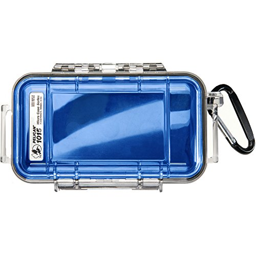Pelican 1015 Micro Case, Clear Top Blue - - Case Pelican Micro Blue