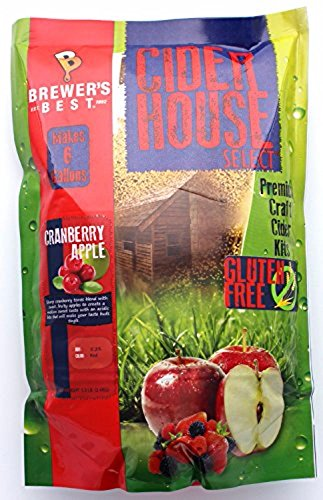 Home Brew Ohio HOZQ8-1343 Brewer's Best Cider House Select Cranberry Apple Kit, Red