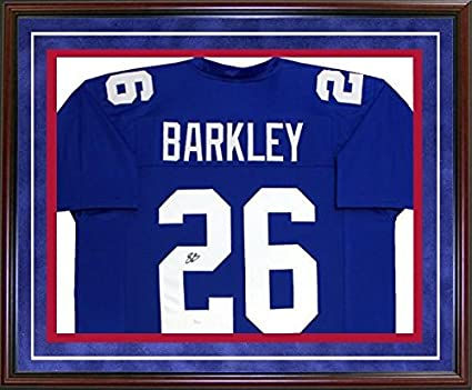 ee5bbbee492 Image Unavailable. Image not available for. Color  Signed Saquon Barkley  Jersey ...