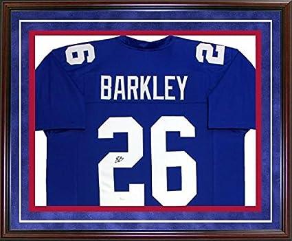 free shipping 54b90 13791 Signed Saquon Barkley Jersey - Framed JSA) - Autographed NFL ...