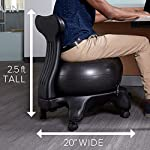NATARIFITNESS..COM  512xntok54L._SS150_ Gaiam Classic Balance Ball Chair – Exercise Stability Yoga Ball Premium Ergonomic Chair for Home and Office Desk with…