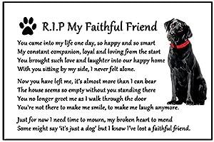 Black Labrador Dog Bereavement Gift Magnet Rip My