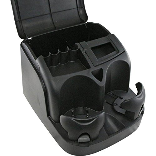 Eckler's Premier Quality Products 55-338559 Universal Seat Console/Organizer With Drink, Coin, And CD Holders, Black