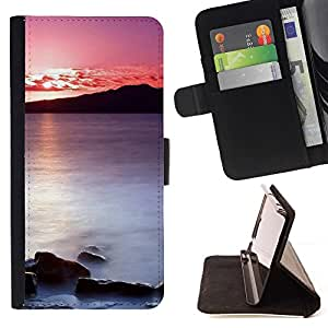 Momo Phone Case / Flip Funda de Cuero Case Cover - Puesta de sol Mar Beautiful Nature 20 - MOTOROLA MOTO X PLAY XT1562