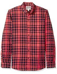 Goodthreads Camisa de Manga Larga de Doble Cara Camisa de Botones para Hombre