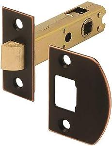 Defender Security E 2772 Passage Door Latch, 9/32 In. & 5/16 In. Square Drive, Classic Bronze
