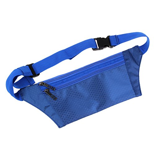 Natuworld Water resistance Outdoor Sporty Travel Waist Bag Running and Fitness Dedicated Waist Pack (Navy Blue) Review