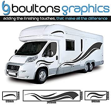 Personalised Name Motorhome Caravan Boat Sticker vinyl laptop Decal Graphic UK Bicycle Accessories Cycling Equipment