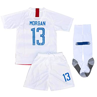 872f20436a1 Alex Morgan  13 New 2018-2019 USA National Home Kids Youth Socce Jersey