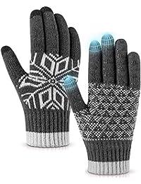 Cold Weather Gloves,Anti-Slip Design-Winter Texting Driving Warm Gloves Mitten