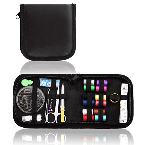 (CampTek Sewing Kit,Portable Sew Kit for Emergency Repairs, A Basic Clothing Repair Kit for Home,Office,Travel,Outdoor Survival,Beginner,Student)