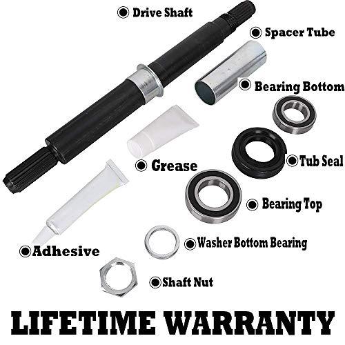 Tub Washer Bearing - W10435302 Washer Tub Bearing Shaft & Seal Kit for Kenmore Maytag Whirlpool Washing Machine Replace 2118925 AP5325033 PS3503261 EAP3503261 8545956 PD00002260