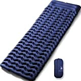 HUI LINGYANG Ultralight Air Sleeping Pad - Best Inflatable Mat for Camping,Backpacking and Traveling-Lightweight & Compact Air Mattress,Blue