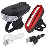 PAGAO Waterproof LED Bike Light Set, Super Bright 400 Lumens USB Rechargeable Bicycle Headlight, Front Light and Warning Tail Light,Cycling Safety Flashlight Best for Mountain Road, Fits Any Bicycles Review