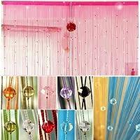 Kyz Kuv cristales imitado perlas cortina de ventana