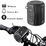 Bluetooth Speaker, Foneso F1 Portable Wireless Player for Outdoor Travel Bicycle Cycling, 6w Strong Passive Radiator with Remote Controller and Metal Hook Loop