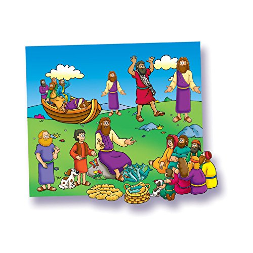 Little Folks Visual LFV21807 Miracles of Jesus Flannelboard, 12.7