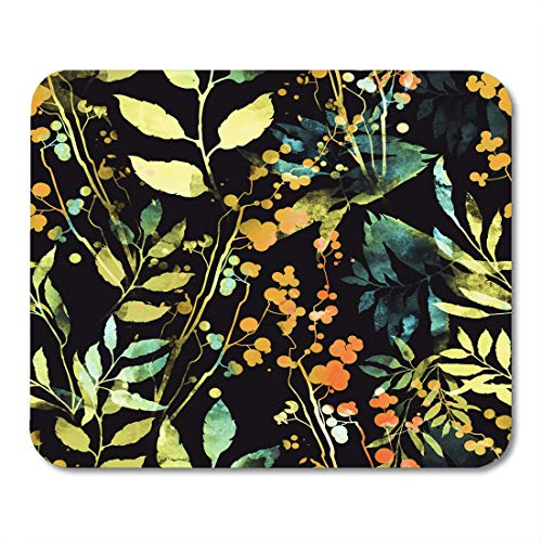 """Price comparison product image Boszina Mouse Pads Imprints Herbs Flowers and Leaves Abstract Watercolor and Digital Boho Spring Fabrics Souvenirs Packaging Mouse Pad for notebooks,Desktop Computers mats 9.5"""" x 7.9"""" Office Supplies"""