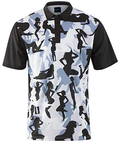 Naked Golf - ReadyGOLF Mens Golf Polo Shirt - Naked Lady Camo XX-Large