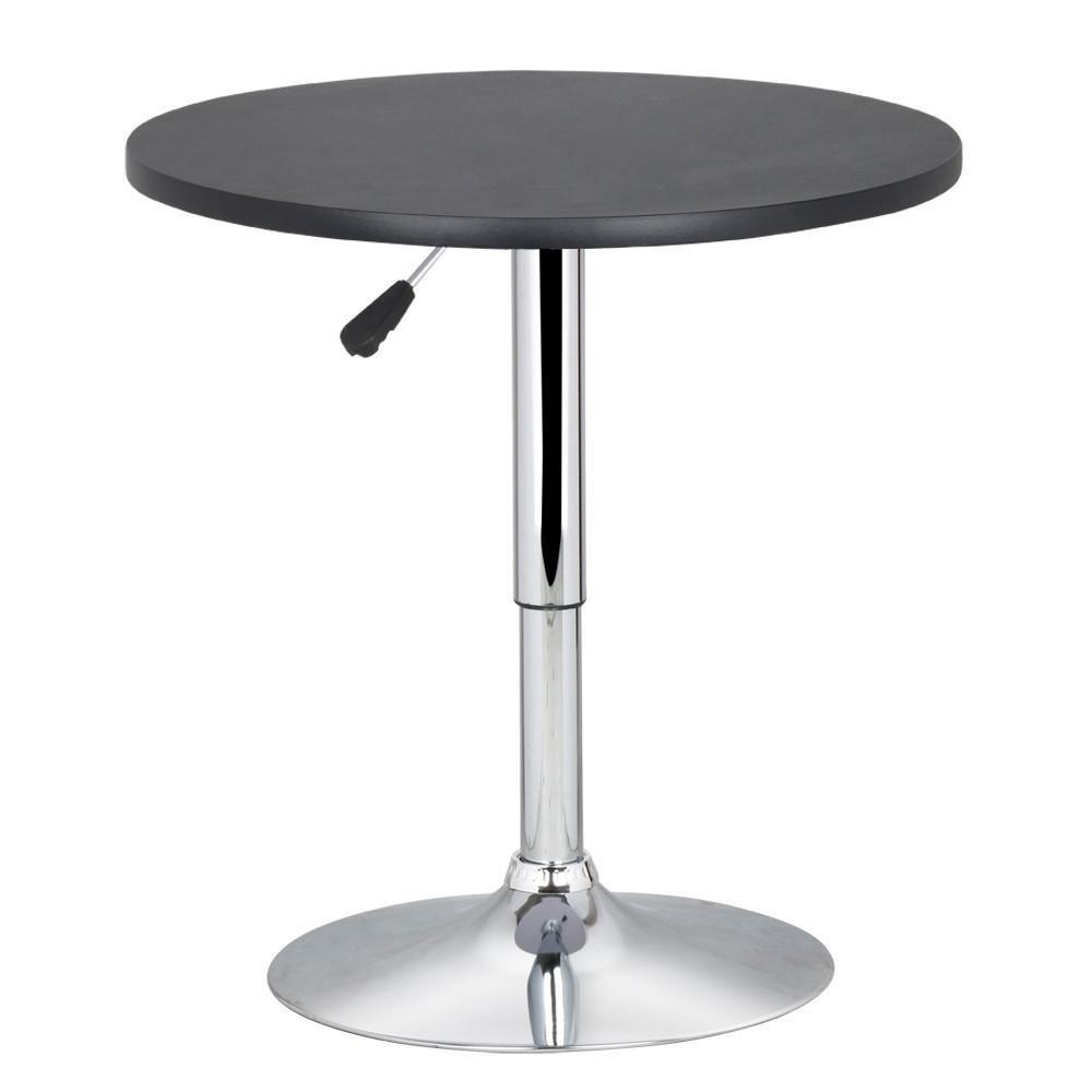 Topeakmart Swivel Round Pub Tables Bar Height Adjustable Bistro Table Black