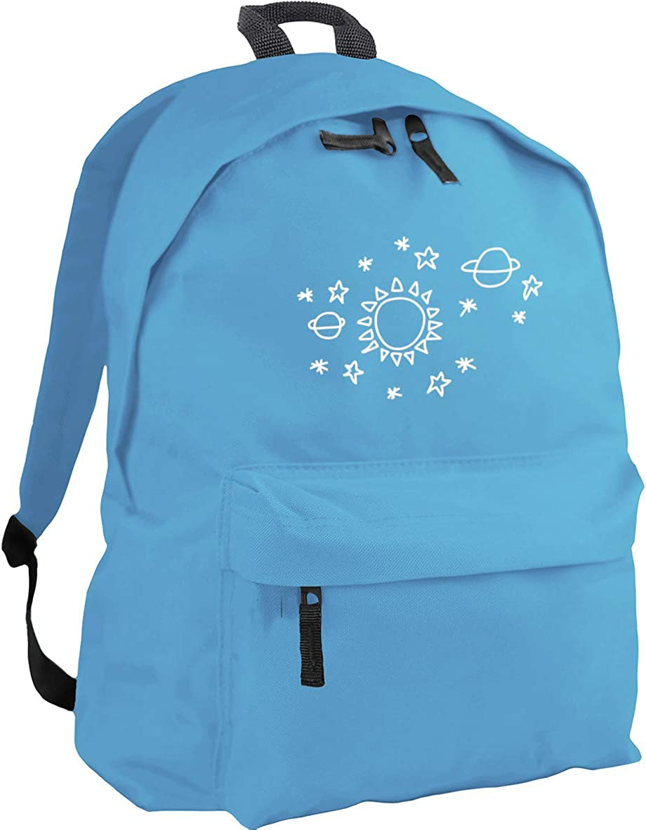 18 litres 31 x 42 x 21 cm Capacity HippoWarehouse Sun star space pattern backpack ruck sack Dimensions