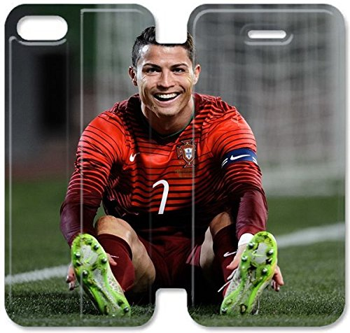 Klreng Walatina® Coque iPhone 6 6s Plus de 5,5 pouces Coque cuir Cristiano Ronaldo Real Madrid Football F6T5At