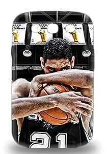 Snap On NBA San Antonio Spurs Tim Duncan #21 3D PC Case Cover Skin Compatible With Galaxy S3 ( Custom Picture iPhone 6, iPhone 6 PLUS, iPhone 5, iPhone 5S, iPhone 5C, iPhone 4, iPhone 4S,Galaxy S6,Galaxy S5,Galaxy S4,Galaxy S3,Note 3,iPad Mini-Mini 2,iPad Air )