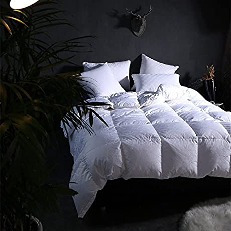 Duvet Duvet Luxury White Goose Feather Down Duvet Quilt 100 Cotton Anti Dust Mite Down Proof Fabric Duvet Duvet Size 220240cm
