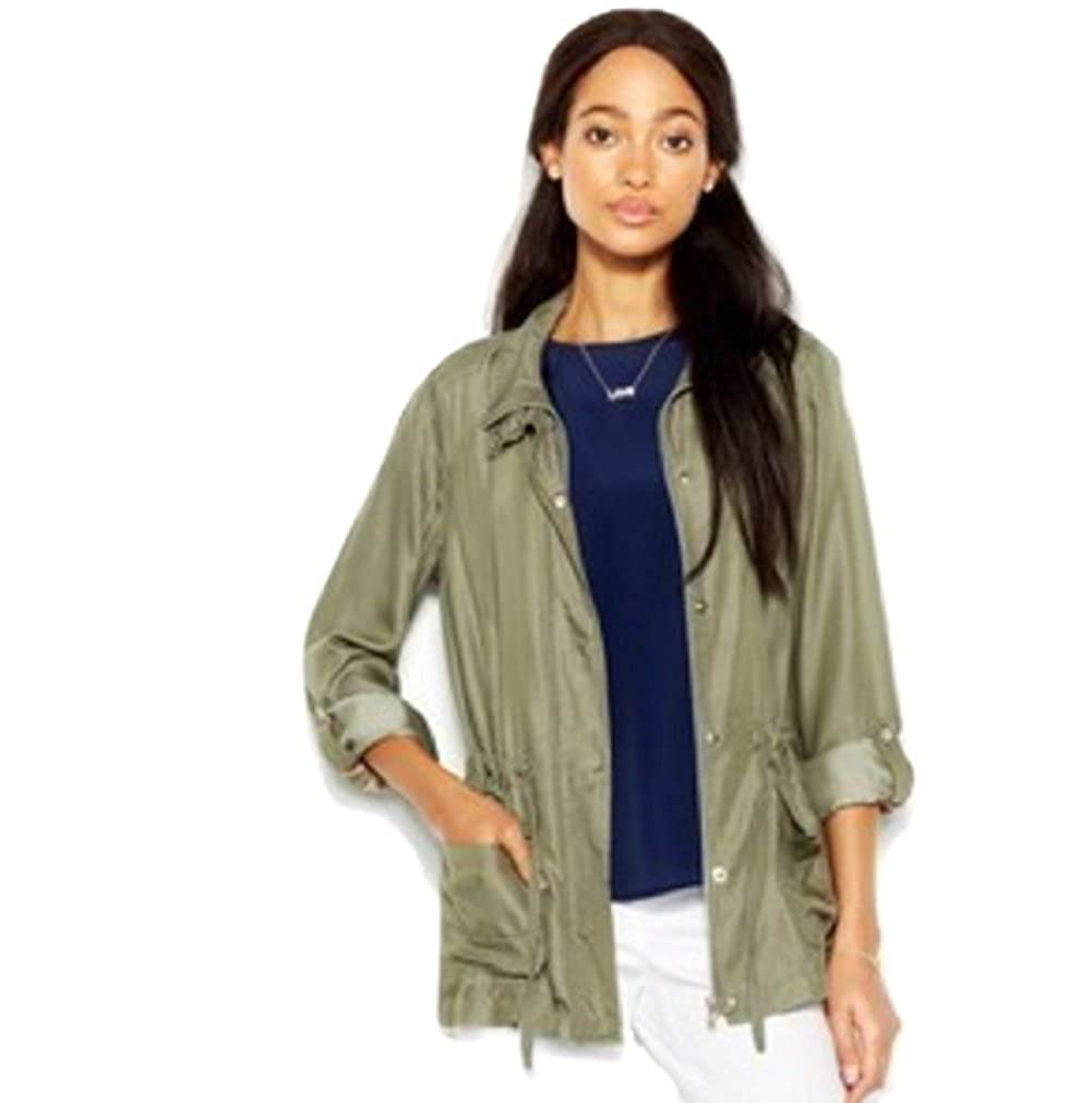 Maison Jules StandCollar Military Jacket Small Dusty Olive