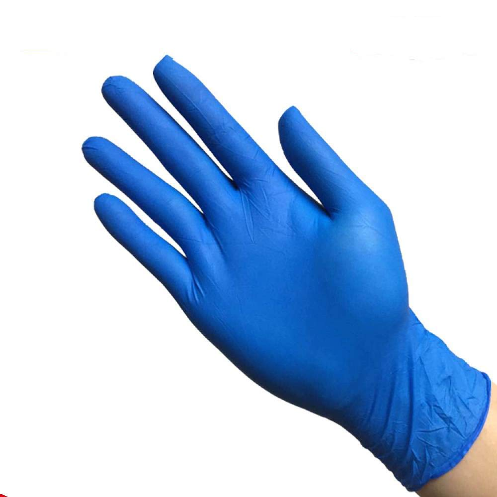 Grade A disposable black NBR latex gloves, laboratory protective oil-proof, industrial tattoos, repair gloves, XL, 100 Dark Blue