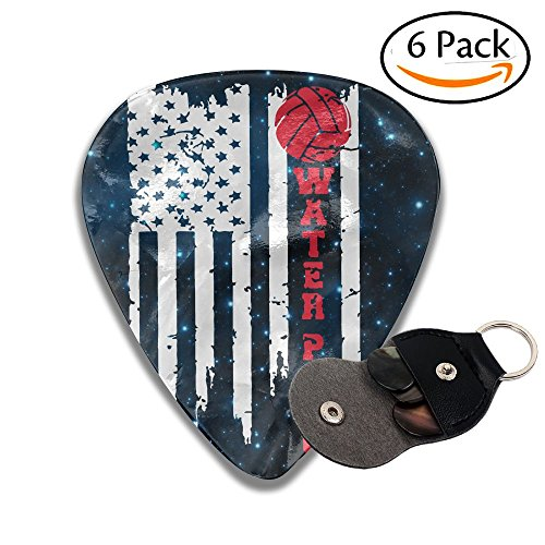 Vintage American Flag Water Polo USA 351 Shape Classic Celluloid Guitar Picks Plectrums 0.46 Mm,0.71 Mm,0.96 Mm,6 (351 Vintage Celluloid Guitar Picks)