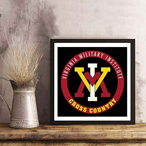 i-zehibho-i Wall Art - VMI Virginia Military Institute Cadets Cross Count Fashion Decor Art Print - 12x12in with Frame