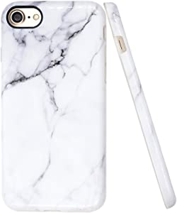 A-Focus Case for iPhone SE 2020 Case White Marble, iPhone 7 Case, iPhone 8 Marble Case, IMD Design Smooth Series Stone Pattern Flexible TPU Shell Case for iPhone 8/7 / SE 4.7 inch Glossy Gray 2