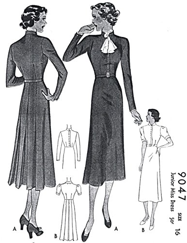 1937-38 Button Front Dress with Jabot ()