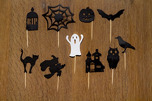 Halloween Cupcake toppers (Set of 20) Assorted